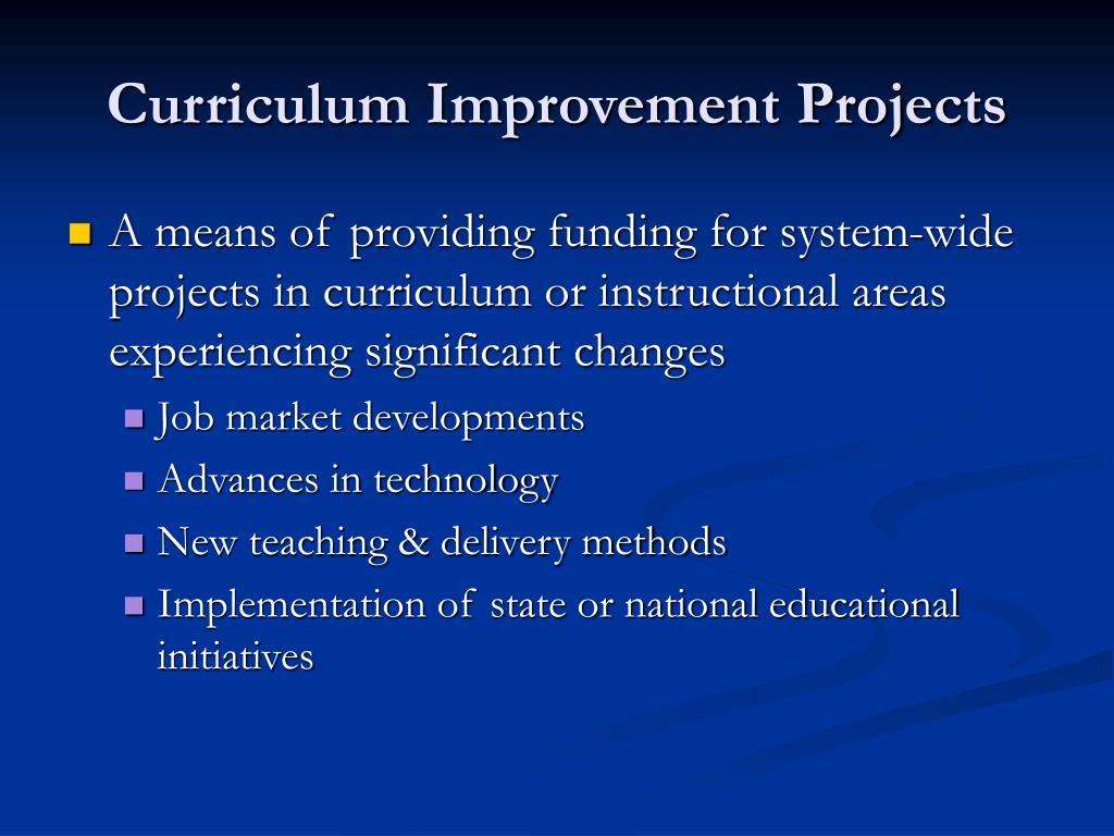 Curriculum Improvement Projects