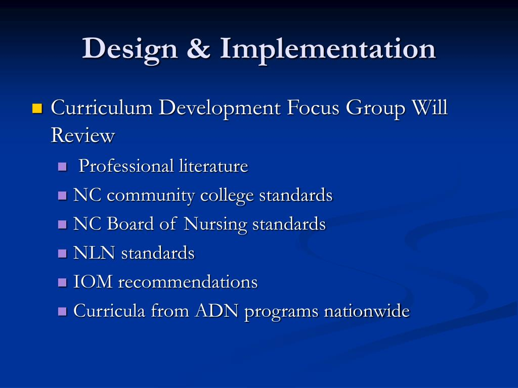 Design & Implementation
