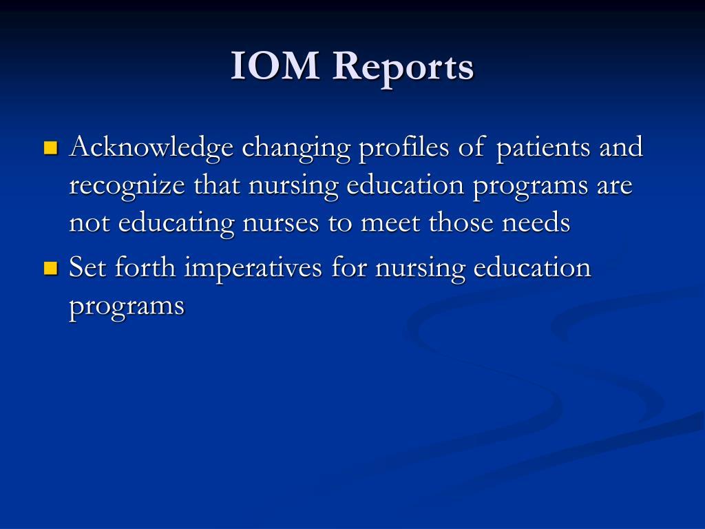 IOM Reports