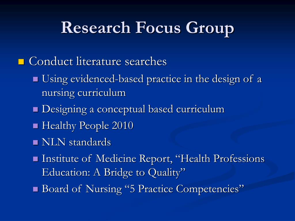 Research Focus Group