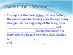 sample topic sentence 1