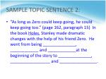 sample topic sentence 2