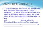 sample topic sentence 3
