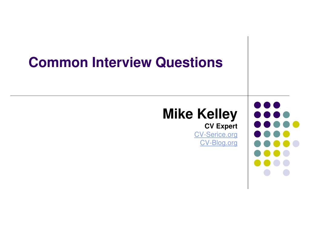common interview questions l.