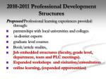 2010 2011 professional development structures
