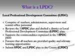 what is a lpdc