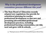 why is the professional development committee process different this year