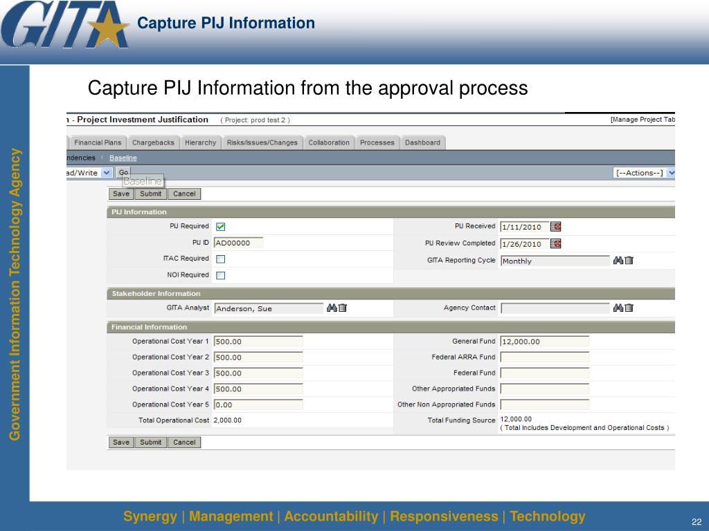 Capture PIJ Information