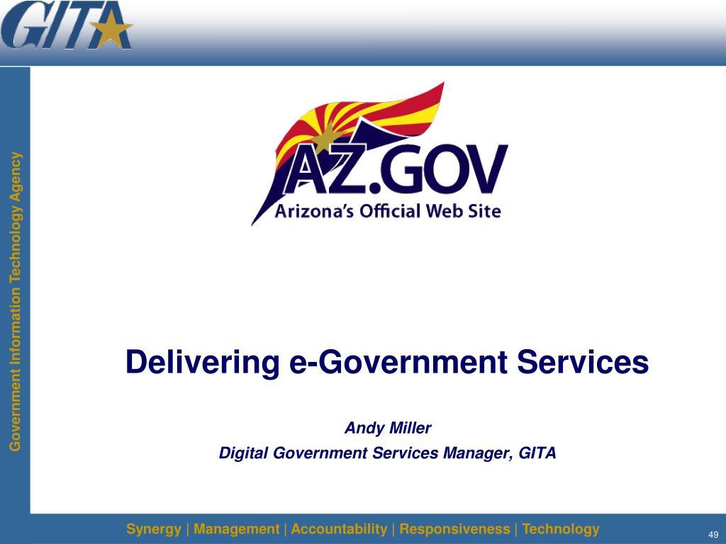 Delivering e-Government Services