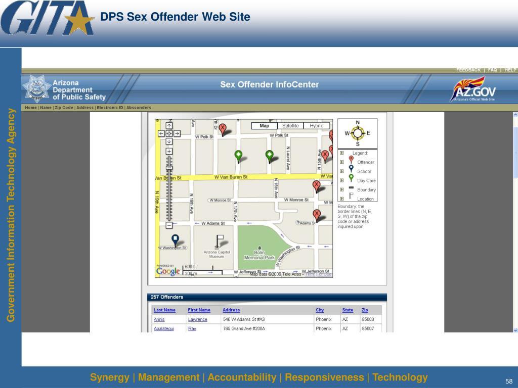 DPS Sex Offender Web Site