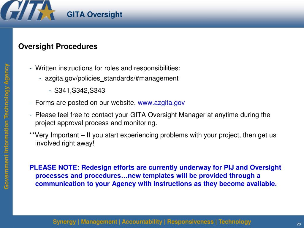 GITA Oversight