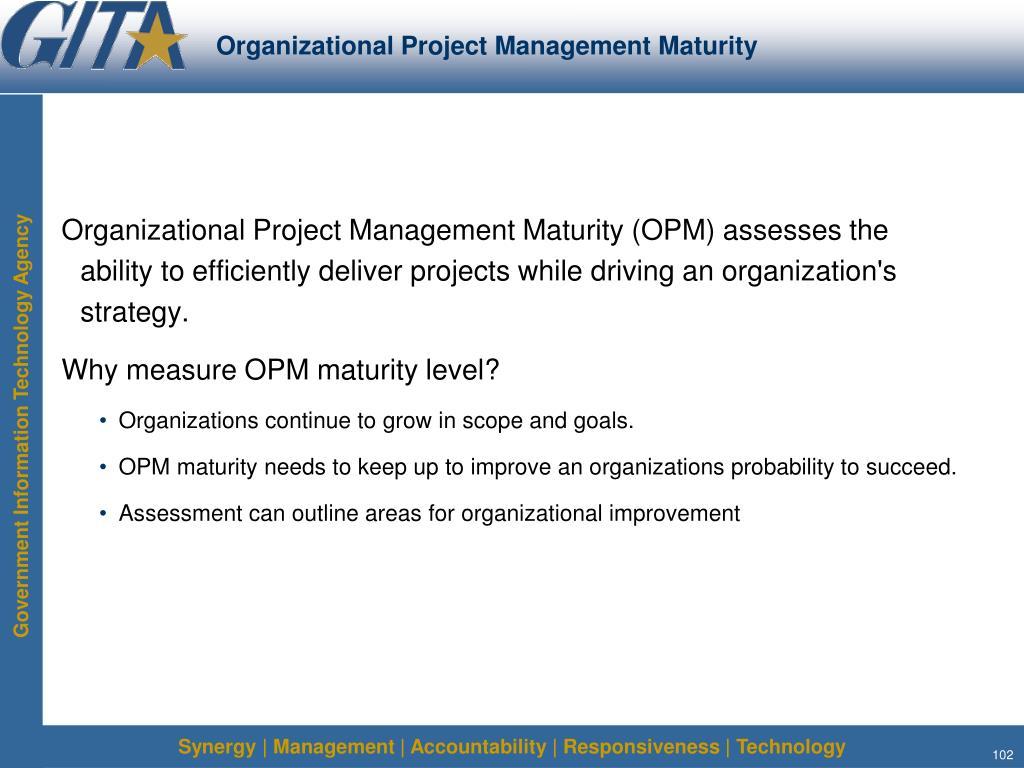 Organizational Project Management Maturity