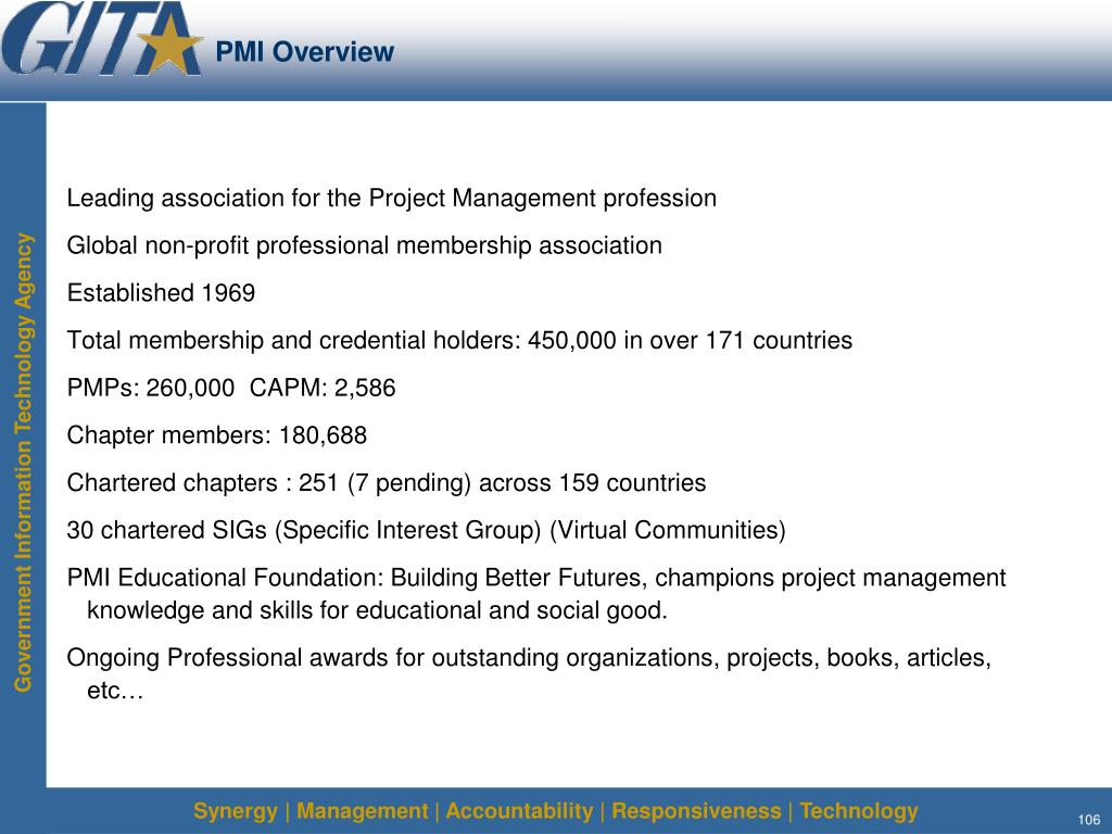 PMI Overview