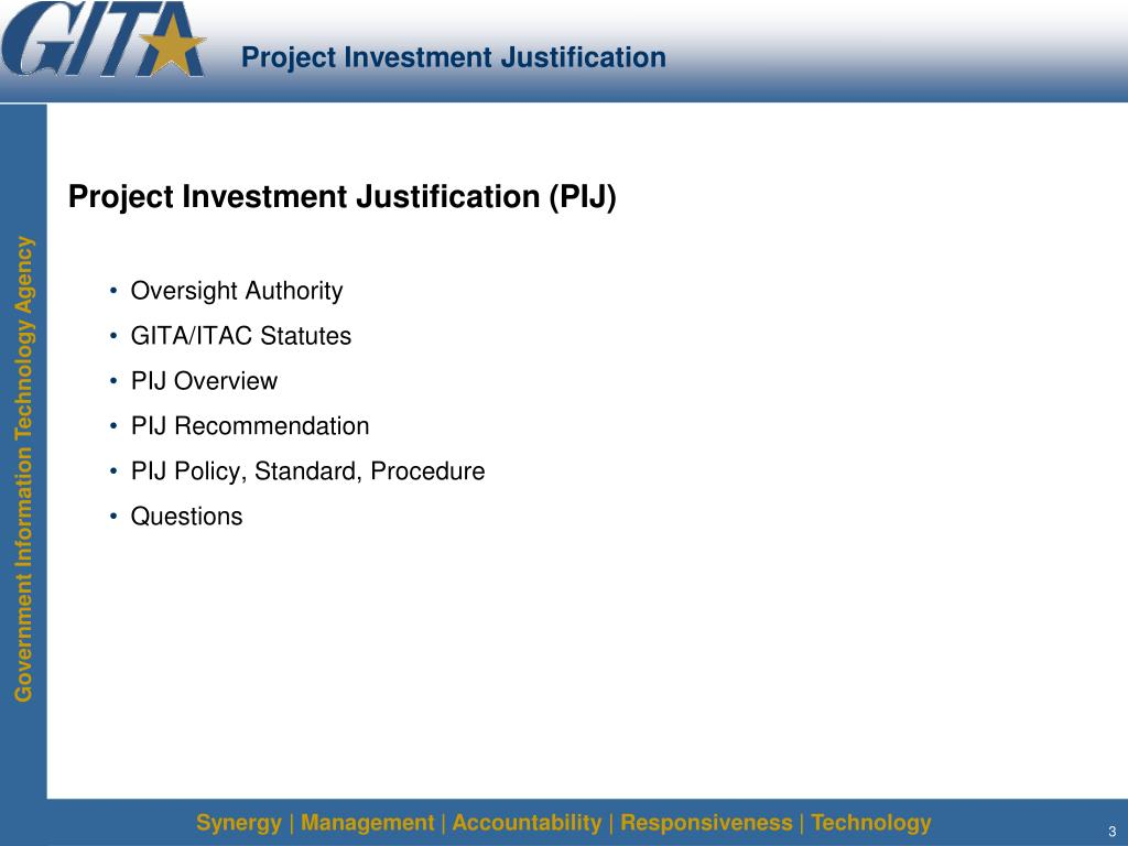 Project Investment Justification