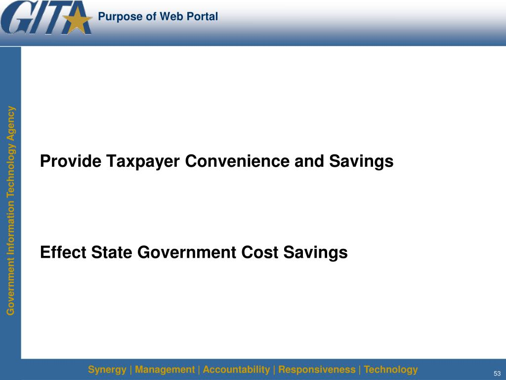 Purpose of Web Portal