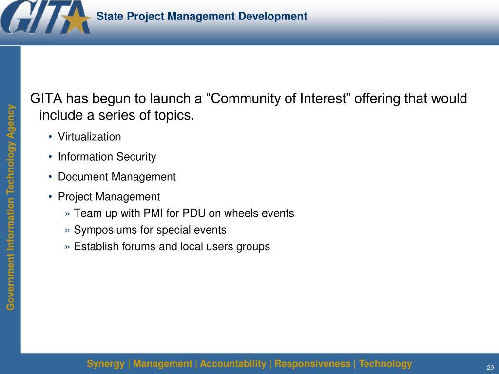 State Project Management Development
