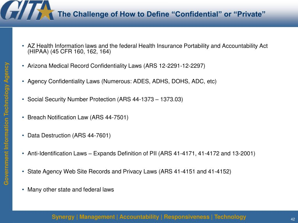 """The Challenge of How to Define """"Confidential"""" or """"Private"""""""