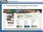 web portal functions