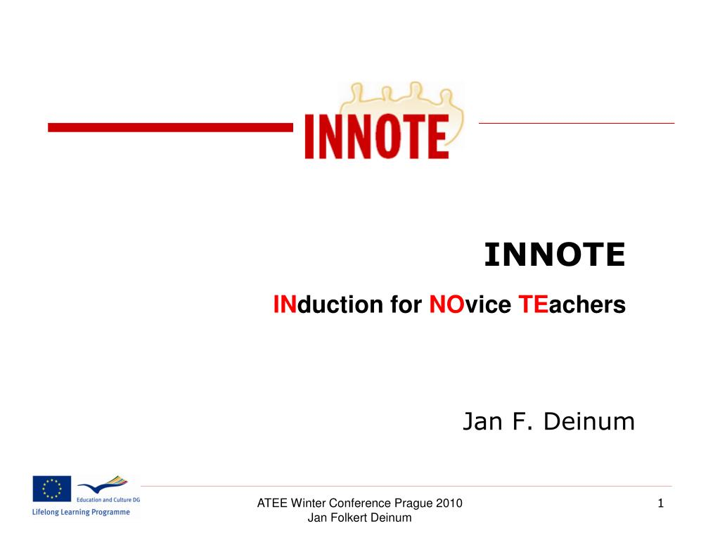 innote i n duction for no vice te achers