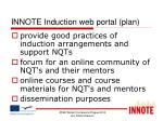innote induction web portal plan