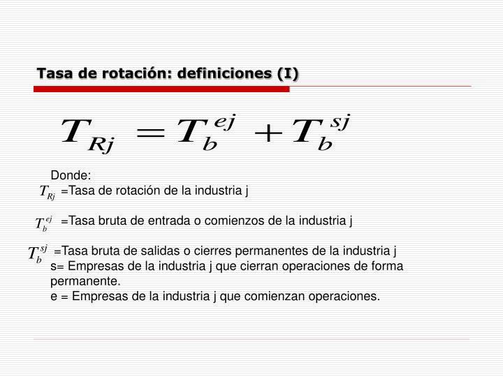 Tasa de rotación: definiciones (I)