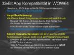 32 bit app kompatibilit t in wow64