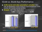 32 bit vs 64 bit app performance
