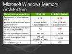 microsoft windows memory architecture