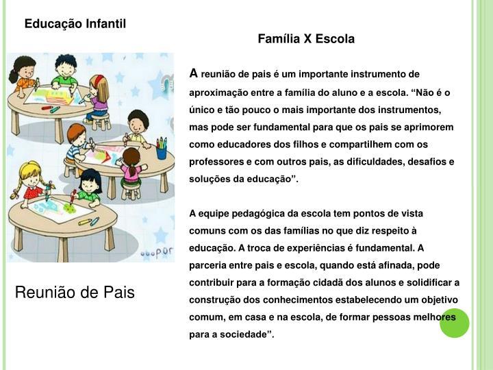 Conhecido PPT - Reunião de Pais 2º Bimestre Educação Infantil Ensino  VN16