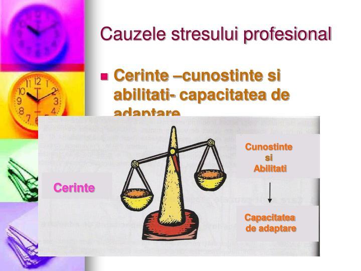 Cauzele stresului profesional