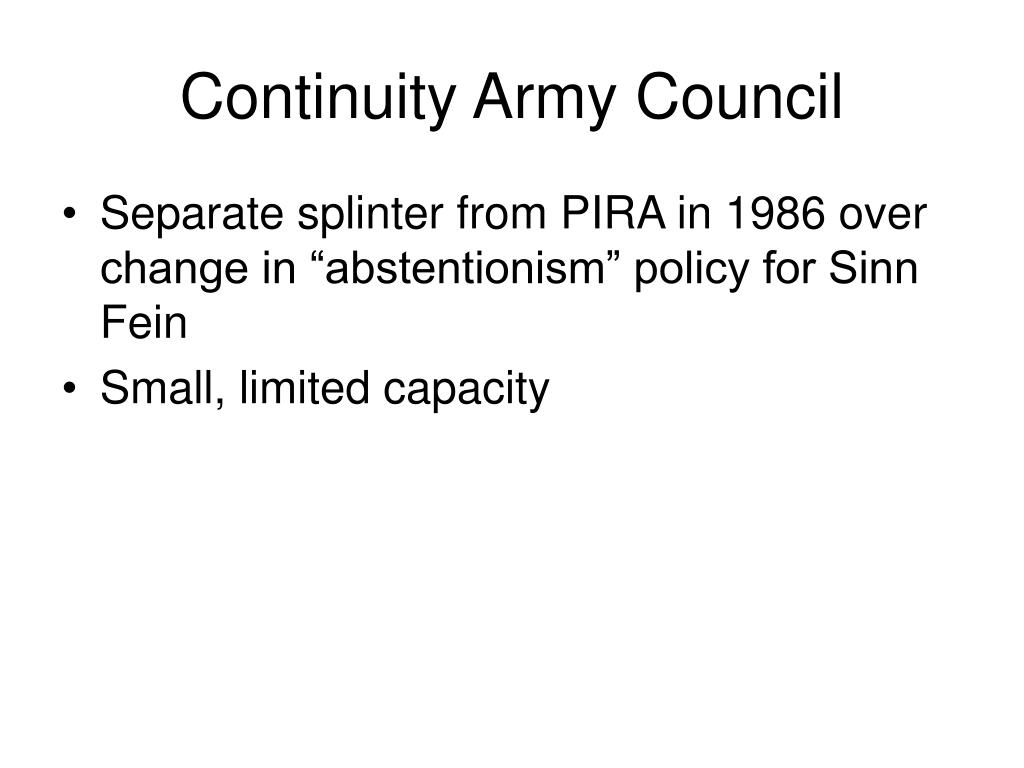 Continuity Army Council