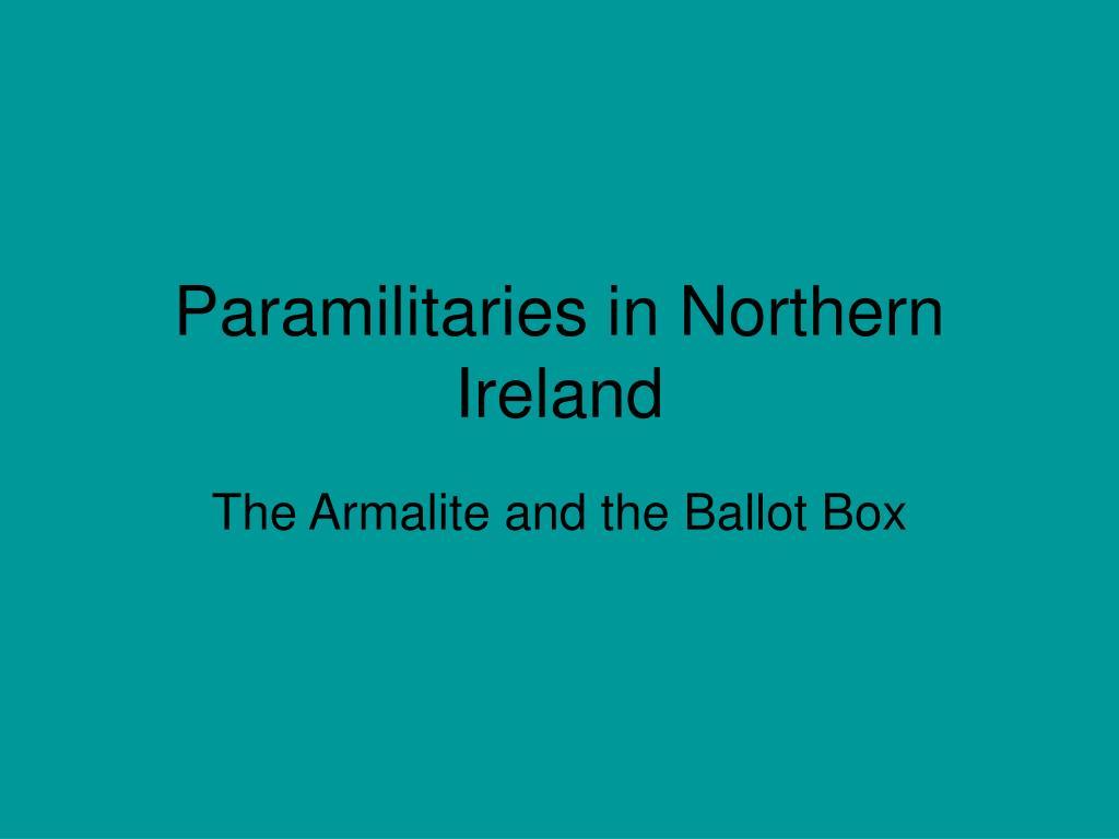 Paramilitaries in Northern Ireland