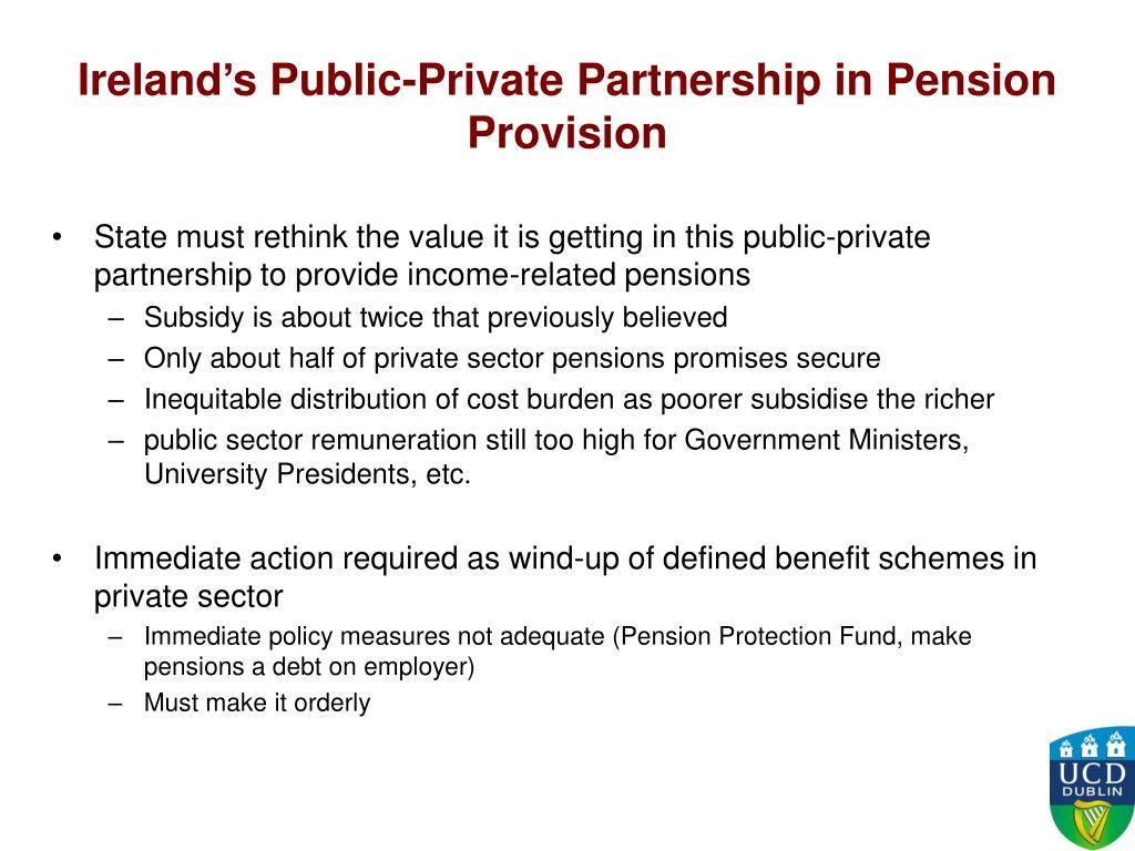 Ireland's Public-Private Partnership in Pension Provision