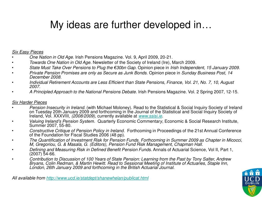My ideas are further developed in…