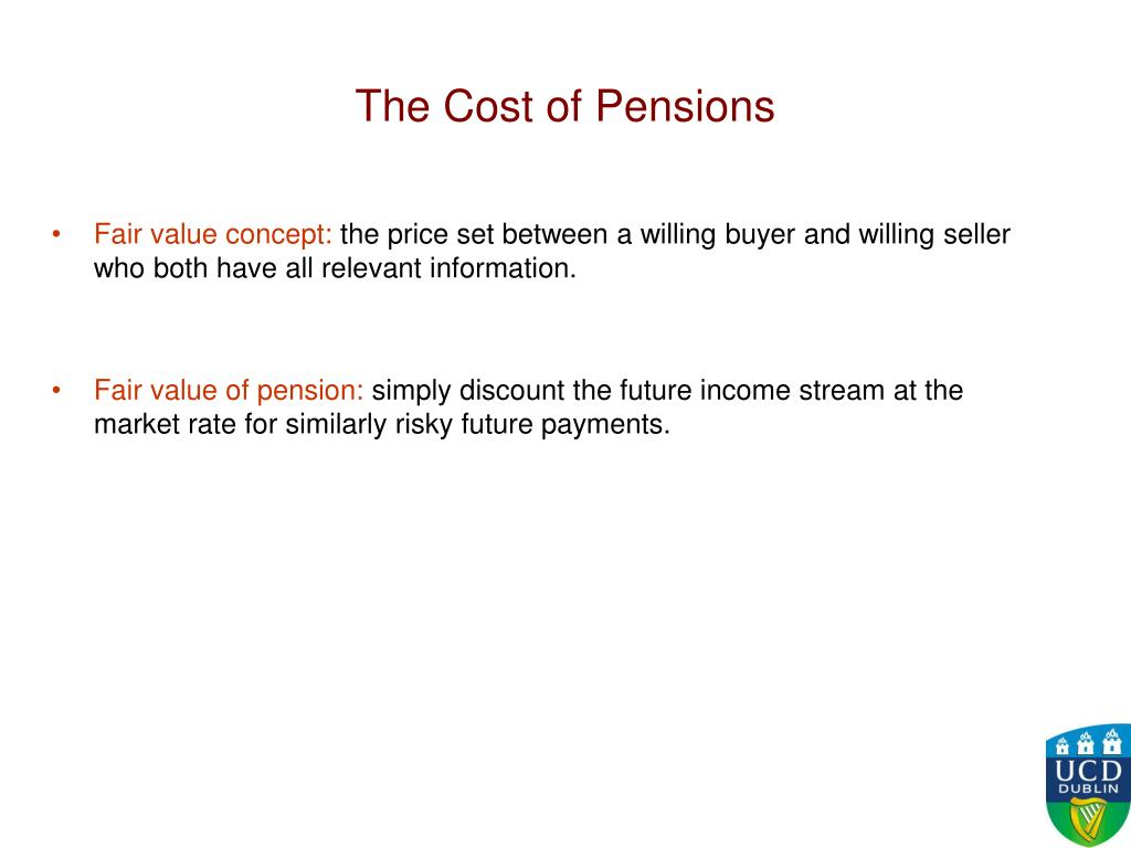 The Cost of Pensions