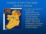 creation of irish free state northern ireland