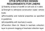 cpcb specified design requirements for liners