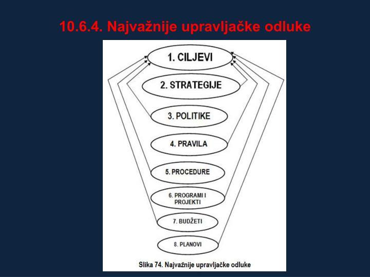 10.6.4. Najvažnije upravljačke odluke