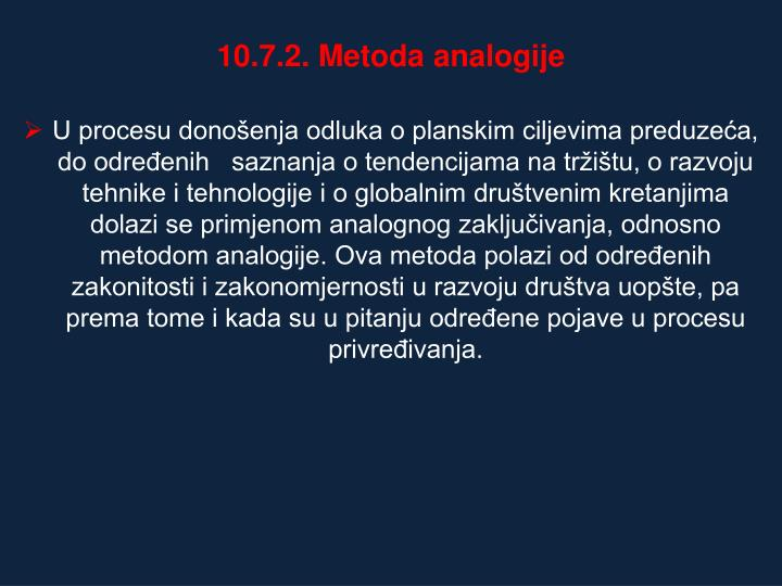 10.7.2. Metoda analogije