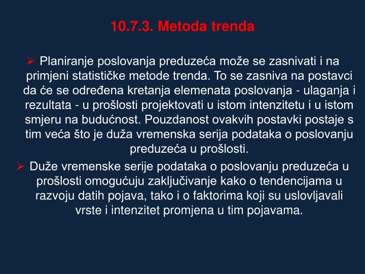 10.7.3. Metoda trenda