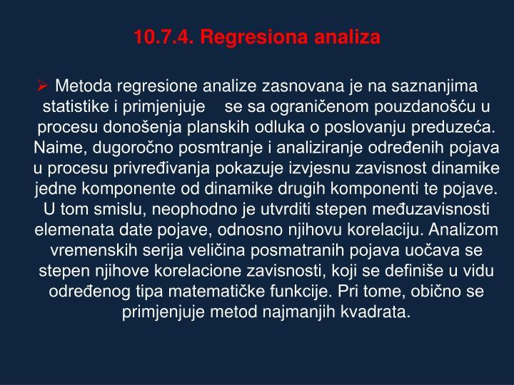10.7.4. Regresiona analiza