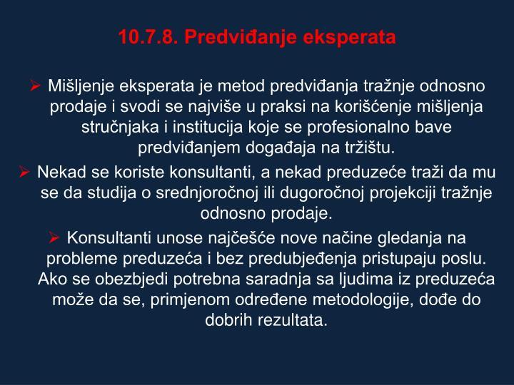 10.7.8. Predviđanje eksperata