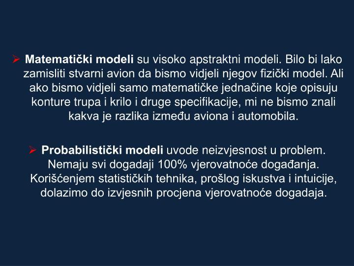 Matematički modeli