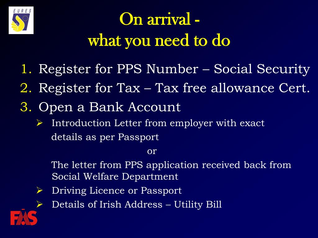 Register for PPS Number – Social Security