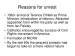 reasons for unrest