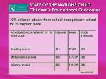 state of the nations child children s educational outcomes