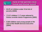 state of the nations child formal and informal support