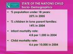 state of the nations child socio demographics