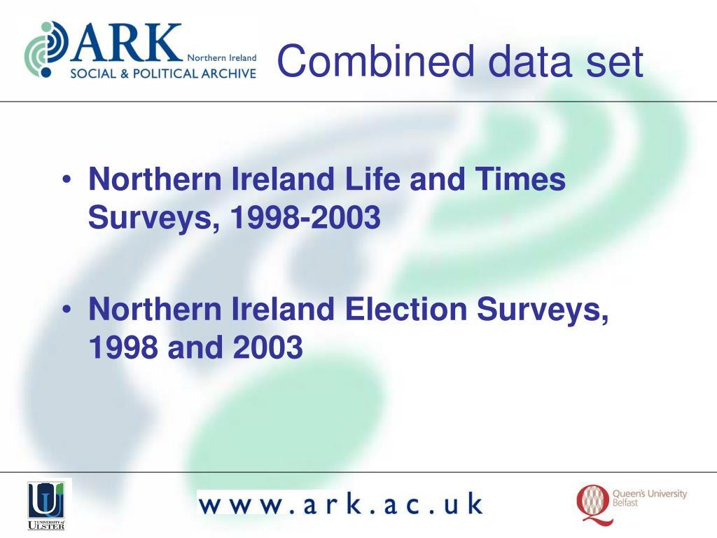 Northern Ireland Life and Times Surveys, 1998-2003