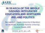 in search of the middle ground integrated education and northern ireland politics